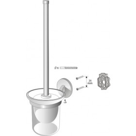 Фото 1 01437 Chroma щетка туалетная подвесная