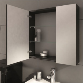 Фото 3 0408-202011 Шкаф-зеркало Aquaform AMSTERDAM 60 Антрацит