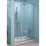 Фото Душевая дверь Ravak ASDP3 - 110 см. Профиль - белый. Витраж - стекло (Grape)