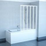 Фото Штора на ванну Ravak VS5 - 113,5. Каркас - белый. Витраж - полистирол (Rain)