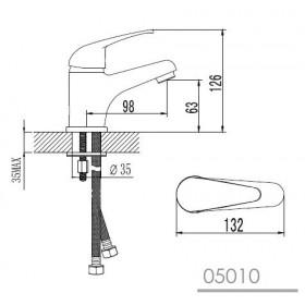 Фото 2 Набор смесителей Imprese MALSE (05010, 35010, 1115 + S023 + W100SL1)