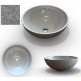 Фото Умывальник из литого мрамора Marmite MONA 420С, 37-Top-Solid Grey (1142041037)