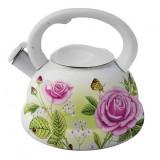Фото Эмалированный чайник со свистком Kamille 0691 new С