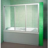 Фото Штора на ванну 150 см. Каркас - белый. Витраж - полистирол (капли)