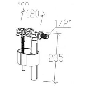 """Фото 1 Поплавок с боковым подводом SIAMP 1/2"""" (пласт)"""