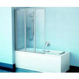 Фото Штора на ванну Ravak VS3 - 130. Каркас - сатин. Витраж - стекло (Transparent)
