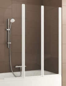 Фото 170-06953 Штора на ванну Aquaform Modern 3 120x140 transp|white