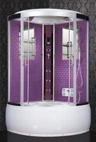 Фото Гидробокс Santeh 088 VO 100х100 см (фиолетовый декор)