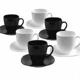 Фото Набор чайный Luminarc Carine Black&White 220мл-12пр (D2371)