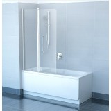Фото Штора на ванну Ravak CVS2 - 100 левая. Каркас - белый. Витраж - стекло (Transparent)