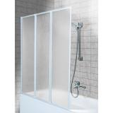 Фото 170-04010 Штора для ванны Aquaform Standart-3 120х140 см. Каркас — белый