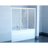 Фото Штора на ванну Ravak AVDP3 - 150. Каркас - белый. Витраж - стекло (Grape)
