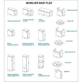 Фото 1 0410-640109 Шкаф навесной Aquaform Flex угловой