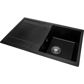 Фото 2 Кухонная мойка Granado VIGO black shine(780*500mm.)